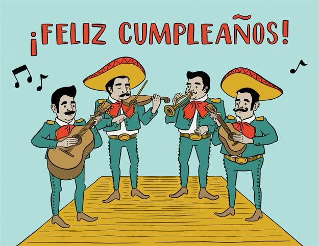 Feliz cumpleanos con Teresita. Fiesta Mexicana.