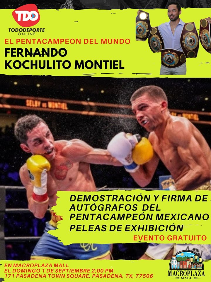Box Exhibition with Kochulito Montiel (Five Time World Champion) 1/9/2019